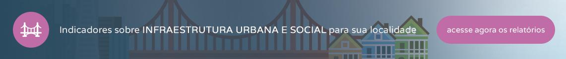 Indicadores sobre Infraestrutura Urbana & Social para sua localidade - Acesse agora os relatórios